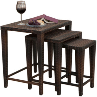 jcpenney.com | Set of 3 Outdoor Wicker Nesting Tables