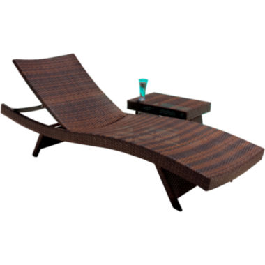 jcpenney.com | Outdoor Wicker Lounge and Table