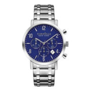 Caravelle New York® Mens Blue Dial Chronograph Watch