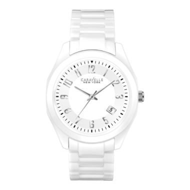 jcpenney.com | Caravelle New York® Womens White Dial Watch 45M107