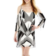 Bisou Bisou® Drop Sleeve Print Dress