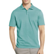 Van Heusen® Short-Sleeve Thin-Striped Polo