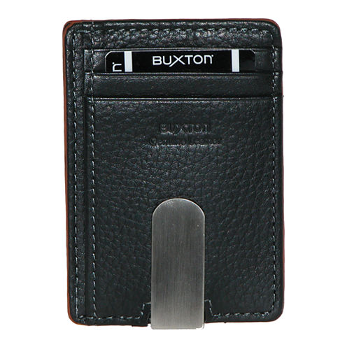Buxton® RFID Front Pocket Wallet w/ Money Clip