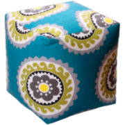 Home Expressions™ Suzani Floral Pouf