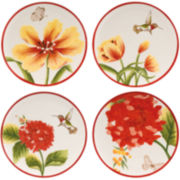 Fitz and Floyd® Flower Market Set of 4 Snack Plates