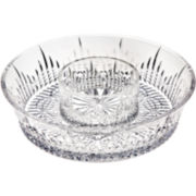 Regency by Godinger Crystal Chip and Dip Server