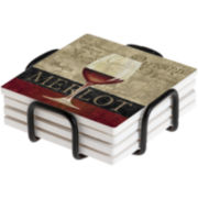 Thirstystone® Merlot Coasters Gift Set