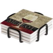 Thirstystone® Merlot Coasters Gift Set