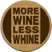 Thirstystone® More Wine Set of 6 Cork Coasters