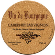 Thirstystone® Cabernet Wine Set of 6 Cork Coasters