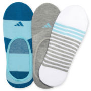 adidas® 3-pk. Superlite Footie Socks