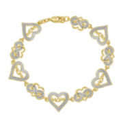 Classic Treasures™ Diamond-Accent Heart Mom Bracelet