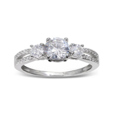 jcpenney.com | Silver Enchantment™ Cubic Zirconia Sterling Silver Split-Shank Ring