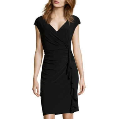 jcpenney.com | Black Label by Evan-Picone Cap-Sleeve Ruffle Ruched Dress