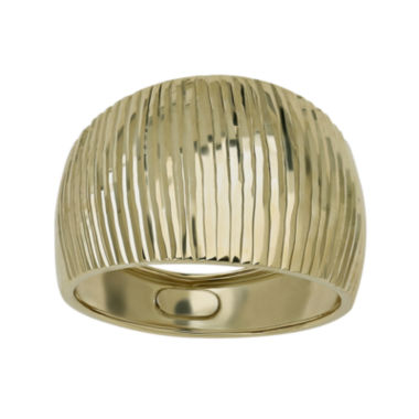 jcpenney.com | 14K Yellow Gold Wide Ribbed Dome Ring