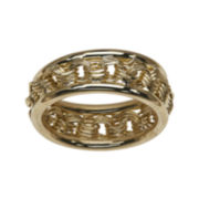 14K Yellow Gold Rosetta-Center Ring