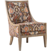 Sage Curved-Back Chair