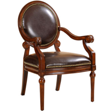 jcpenney.com | Shelby Faux-Leather Round-Back Chair