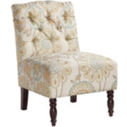 Sylvia Tufted Armless Chair
