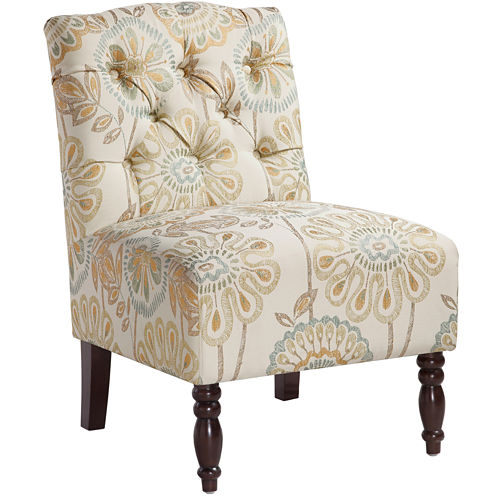 Madison Park Sylvia Tufted Armless Chair