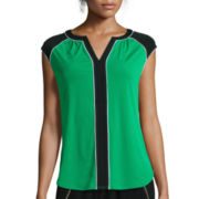 Worthington® V-Neck Extended-Shoulder Top