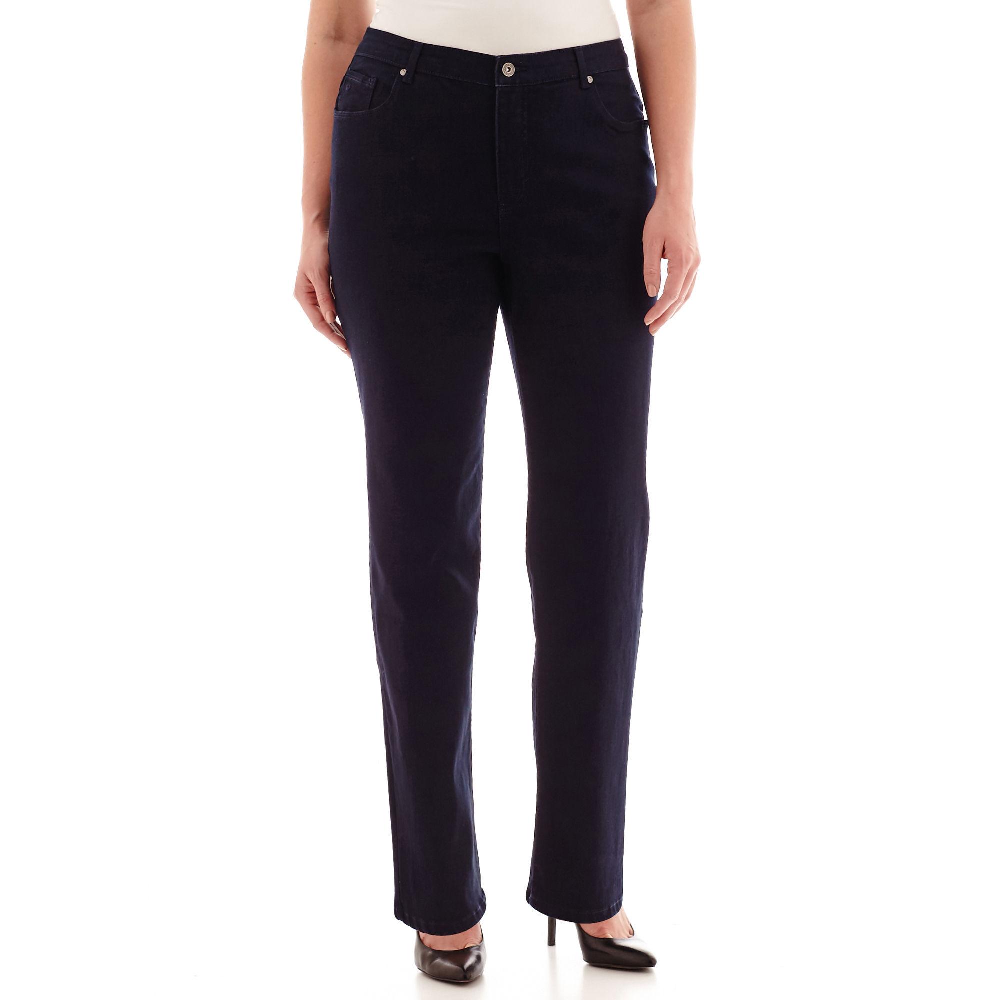 Gloria Vanderbilt Avery Rail Straight-Leg Jeans - Plus