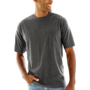 Stafford® Performance Heavyweight Crewneck Pocket Tee–Big & Tall