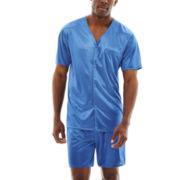 Stafford® Short-Sleeve Micro-Knit Pajama Set–Big & Tall