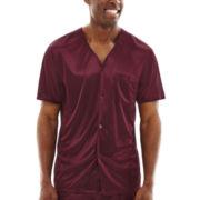 Stafford® Short-Sleeve Micro-Knit Pajama Set