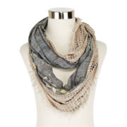 Grunge Mixed Loop Scarf