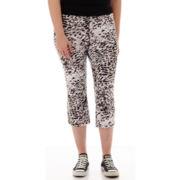 City Streets® Print Crop Yoga Pants - Plus