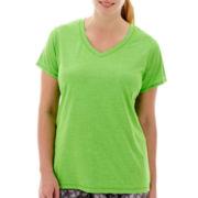 Xersion™ Short-Sleeve Melange T-Shirt - Plus
