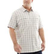 Van Heusen® Short-Sleeve Traveler Woven Shirt–Big & Tall