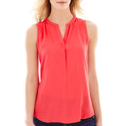 Liz Claiborne® Split-Neck Tunic Tank Top