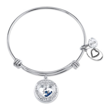 jcpenney.com | Footnotes® Stainless Steel Faith Hope Love Bangle Bracelet