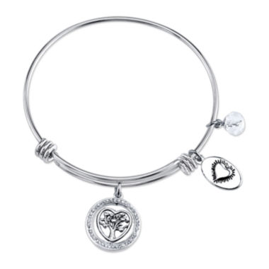 jcpenney.com | Footnotes® Stainless Steel Family Tree Bangle Bracelet