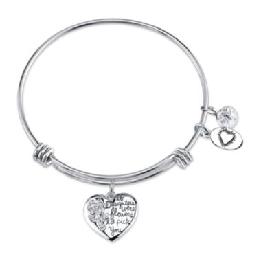 jcpenney.com | Footnotes® Cubic Zirconia Daughters Heart Expandable Bangle Bracelet