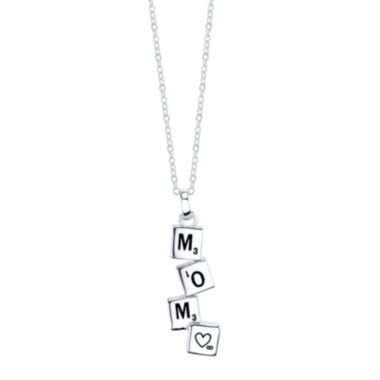 jcpenney.com | Crystal Sophistication™ Sterling Silver Mom Pendant