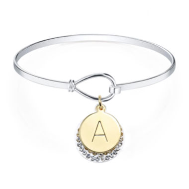 jcpenney.com | Crystal Sophistication™ Crystal Letter A Initial Catch Bracelet