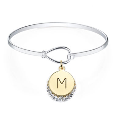 jcpenney.com | Crystal Sophistication™ Crystal Letter M Initial Catch Bracelet