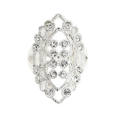 Crystal Sophistication™ Filigree Stone Clear Crystal Ring