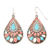 Decree® Textured Teardrop Earrings
