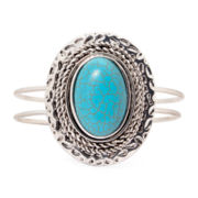Aris by Treska Aqua Stone Cuff Bracelet