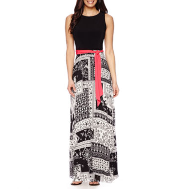 jcpenney.com | RN Studio by Ronni Nicole Sleeveless Top with Scarf Print Maxi