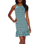 R&K Originals® Sleeveless Halter 3-Tier Shift Dress