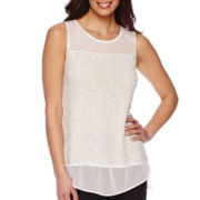 Blu Sage Sleeveless Glitter Top