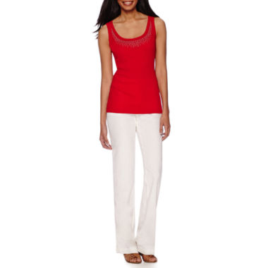 jcpenney.com | St. John's Bay® Embellished Tank or Linen Pants - Tall
