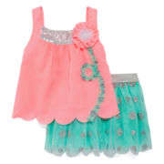 Little Lass® 2-pc. Tank Top and Skirt Set – Baby Girls 3m-24m
