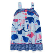 Marmellata Sleeveless Whale-Print Sundress - Baby Girls 3m-24m