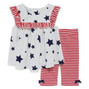 Marmellata Sleeveless Star Dress Set - Baby Girls 3m-24m